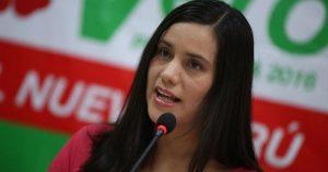 Verónika Mendoza, candidata de Juntos por el Perú