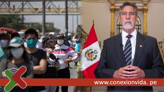 Critica al presidente Sagasti por levantar cuarentena - conexion vida