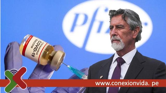 Francisco Sagasti anuncia llegada de vacunas Pfizer al Perú - Conexión Vida