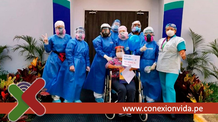 Pacientes de alta por coronavirus Foto ANDINA Minsa