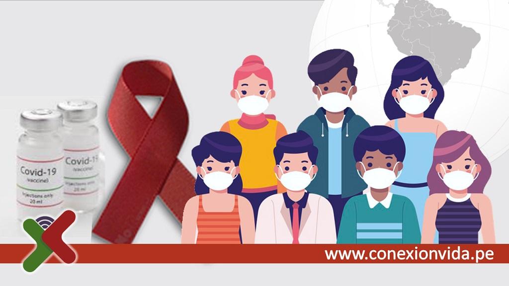Vacunación contra el Covid a personas con VIH en el Perú - Composición Conexión Vida