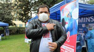 Vacunación de personas con VIH - foto: Marlon Castillo / Conexión Vida